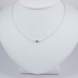Collier saphir rose - Pink Star