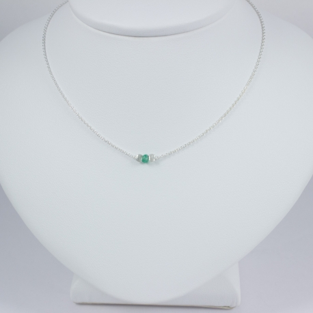 Collier emeraude - Green Star