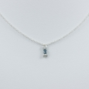 Collier chaine petit diamant bleu brut - Drop Blue Star