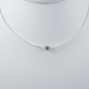 Collier saphir rose chaine scintillante Frozen Pink Star