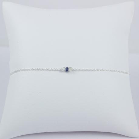 Bracelet saphir bleu Dark Blue Star