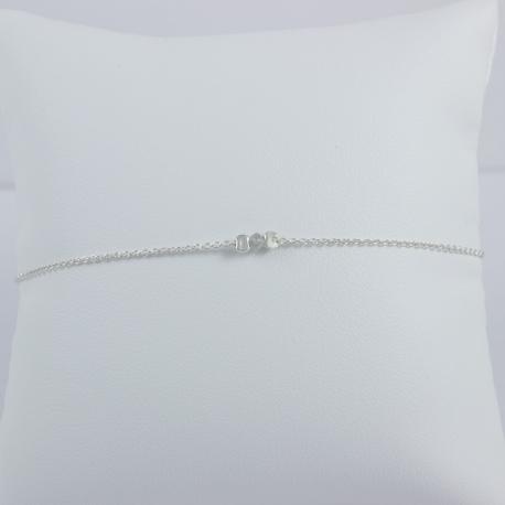 Bracelet diamant gris Grey Star