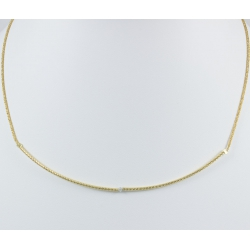 Collier branche full or jaune et diamant gris Sun Gray Star