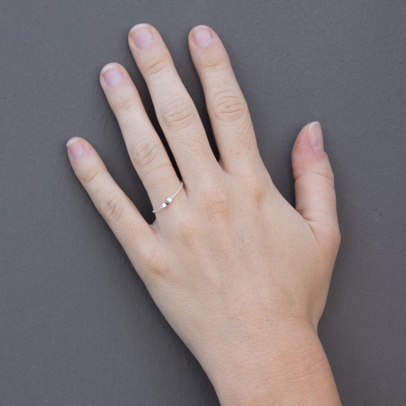 Bien connu Bague chaine argent et diamant bleu Blue Star - bague diamant MJ79