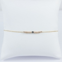 Bracelet perles roses et diamant noir Pink Pearl Star