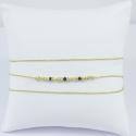 Bracelet wrap perles doré or et diamants noirs by LFDM