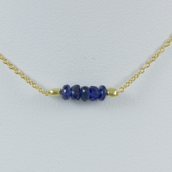 Collier saphir bleu argent plaqué or Gold Constellation by LFDM