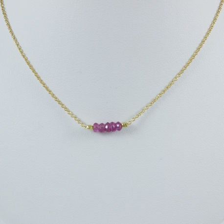 Collier saphirs roses argent plaqué or Gold Constellation by LFDM