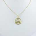 Collier flamant en argent 925 doré by LFDM - Collections Capsules
