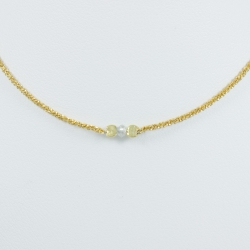 Collier diamant gris chaine scintillante or jaune Sun Grey Star