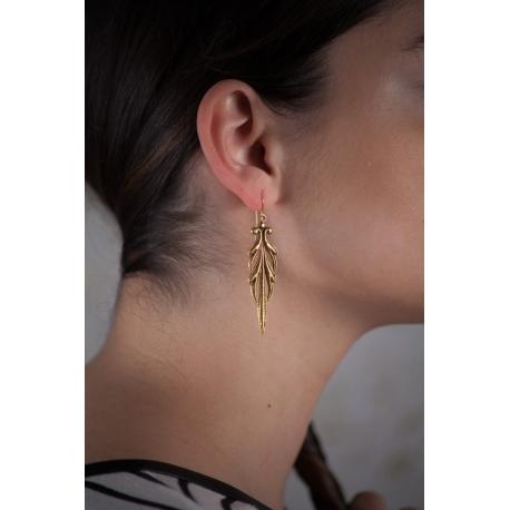 Boucles d'oreilles dorées Volute - Schade Jewellery