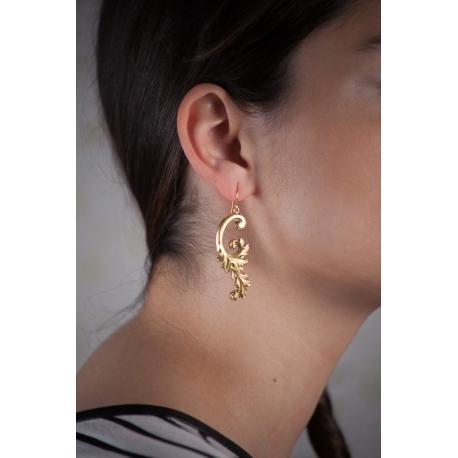 Boucles d'oreilles dorées Rinceaux - Schade Jewellery