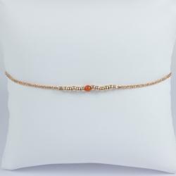 Bracelet corail et perles argent plaqué or rose Frozen Pink Pearl Star by LFDM