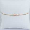 Bracelet corail et perles argent doré or rose Frozen Pink Pearl Star by LFDM