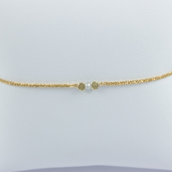Bracelet diamant gris couleur champagne Sun light star by LFDM