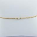 Bracelet diamant gris couleur champagne Sun light star by LFDM