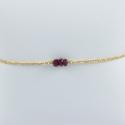 Bracelet 3 rubis argent doré or champagne by LFDM Jewels