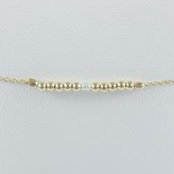 Bracelet akoya keshi et perles argent plaqué or champagne by LFDM Jewels