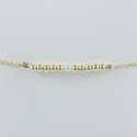 Bracelet akoya keshi et perles argent doré or champagne by LFDM Jewels