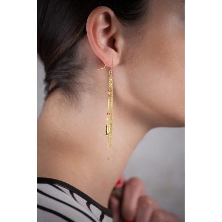 Boucles d'oreilles dorées Coyote - Schade Jewellery