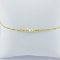 Akoya Keshi bracelet and gold plated pearl Frozen Gold Star by LFDM JEWELS