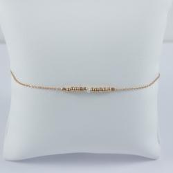 Bracelet perle Akoya et perles argent 925 doré rose Pink Pearl Star by LFDM Jewel