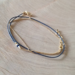 Bracelet triple tour modèle Sofia by LFDM Jewel