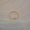 Bague diamant bleu chaine scintillante argent doré rose by LFDM Jewels