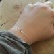 Bracelet chaine petit diamant bleu brut - Blue Star
