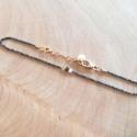 Bracelet diamant noir chaine scintillante noire et apprêts argent doré by LFDM Jewels