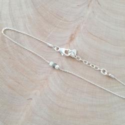 Bracelet saphir vert et argent by LFDM Jewels