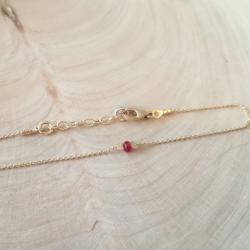 Bracelet rubis argent doré champagne by LFDM Jewels