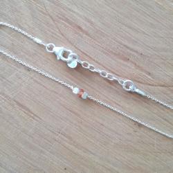 "Bracelet argent saphir orange foncé ""Padparadscha"" by LFDM Jewelry"