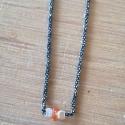 "Collier saphir orange ""Padparadscha"" chaine scintillante by LFDM Jewels"
