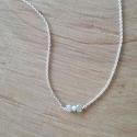 Collier diamant blanc et argent 925 by LFDM Jewels