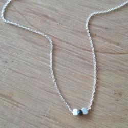 Collier chaine petit diamant noir brut - Black Star