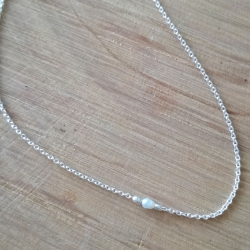Collier perle akoya keshi et argent by LFDM Jewelry