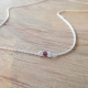 Collier grenat et argent by LFDM Jewels