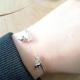 Jonc précieux argent boule lisse et pierres fines by LFDM Jewels