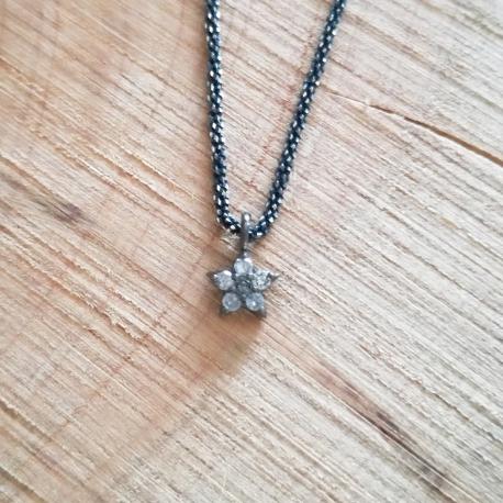 Collier etoile diamant chaine gun by LFDM Jewelry