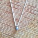 Collier goutte de diamant chaine scintillante argent by LFDM Jewels