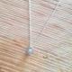 Collier goutte de diamant gris chaine forçat argent massif by LFDM