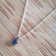 Collier etoile saphir bleu chain fine en argent 925 by LFDM Jewels