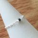 Bague chainette argent et diamant noir by LFDM Jewelry