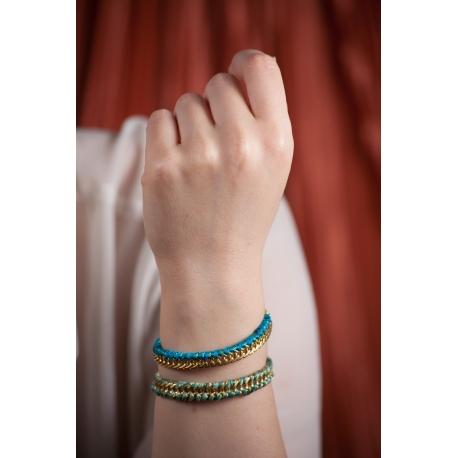 Bracelet doré Lézard double - Schade Jewellery