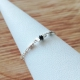 Bague diamant noir chaine cube argent 925 by LFDM Jewelry