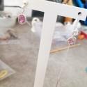 Boucles d'oreilles tourmaline rose cut argent 925