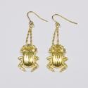 Boucles d'oreilles dorées Scarabée - Schade Jewellery