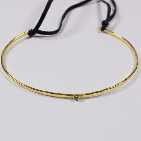 Jonc martelé doré - Schade Jewellery