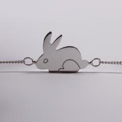 Bracelet Martin le lapin argent - Na na na naa